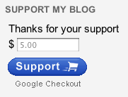 Google Checkout Gadget in Blogger